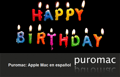 Primer Aniversario de Puromac, Felicidades!!