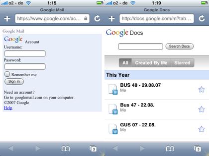 Google Apps disponibles para el iPhone &iPodTouch