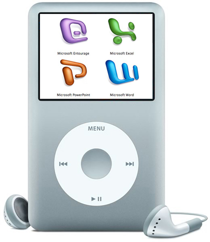 Microsoft integrará el Office 2008 en el iPod