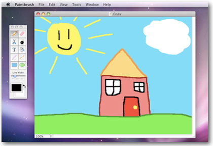 Paintbrush, el equivalente al Paint de Microsoft