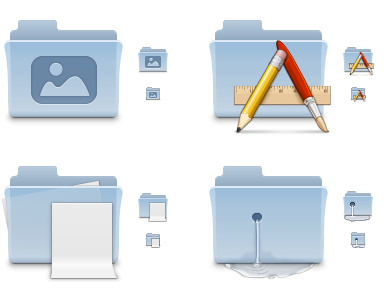Iconos Aqua para tus carpetas en Mac OS X Leopard