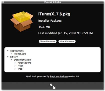 Examina tus archivos .pkg conQuickLook