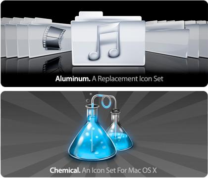 Iconos de Aluminio y de Qu�mica para tus carpetas