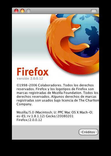Firefox se actualiza a la versión 2.0.0.12