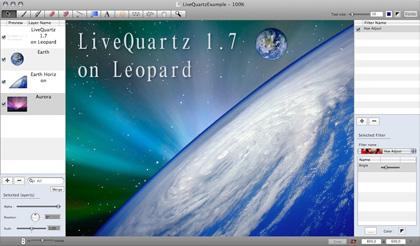 LiveQuartz 1.7.2, simple editor deimágenes