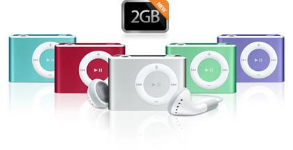 Nuevo modelo de iPod Shuffle y bajada de precio