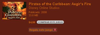 Nuevo juego para el iPod, Pirates of the Caribbean