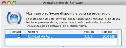 Actualización de utilidad Airport 5.3.1