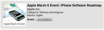 La keynote sobre el SDK del iPhone en iTunes