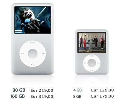 Bajada de precios en iPods Nano yClassic