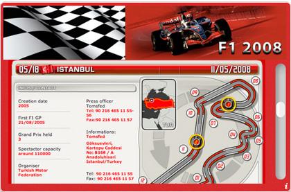 Aqu� tienes tu Widget para la Formula 1, F1 - 2008