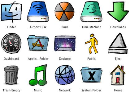Iconos graciosos para tu Mac