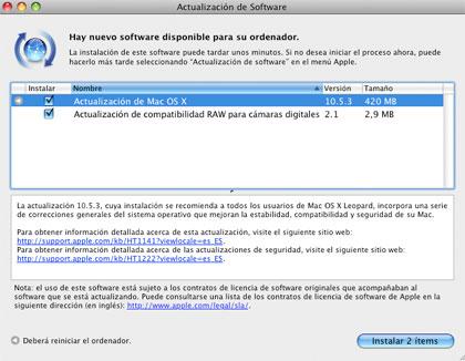 Ya está aqu� la versión 10.5.3 de Leopard