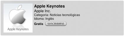 Suscr�bete para ver las Keynotes de Apple