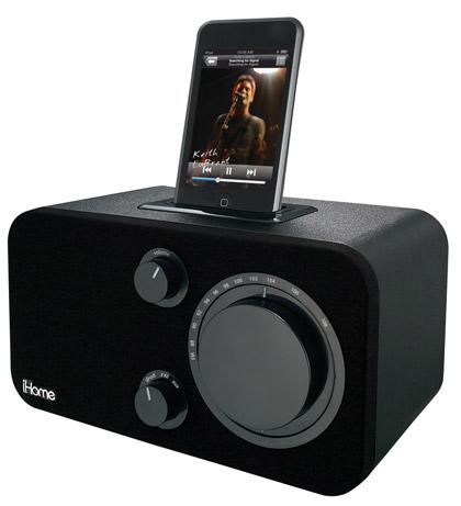 iH10, FM radio para iPod con look clásico