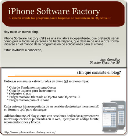 Nace el blog iPhone Software Factory