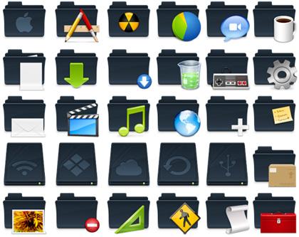 Viste a tu mac de negro con estos iconos