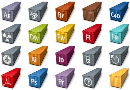 Set de iconos iContainer para tu Mac