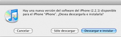 Nuevo Firmware 2.2.1 para el iPhone disponible