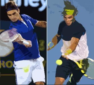 Federer y Nadal en la final del Open de Australia
