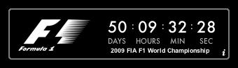 Widget Cuenta atrás para el comienzo de la F1