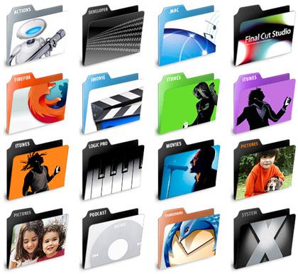 Iconos: Application folders, organización profesional