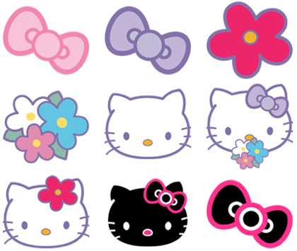 Iconos de Hello Kitty para las mackeras cool!!