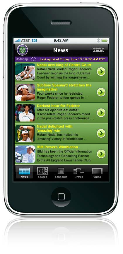 Todas las noticias de Wimbledon en tu iPhone