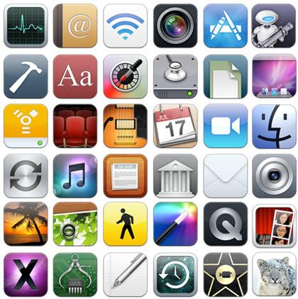 Todos los iconos de tu Mac al estilo iPhone