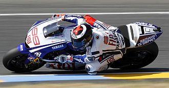 Lorenzo, Elías y Espargaró, GP Francia 2010