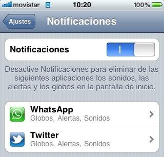 iOS Notificaciones: Sonidos, alertas y globos